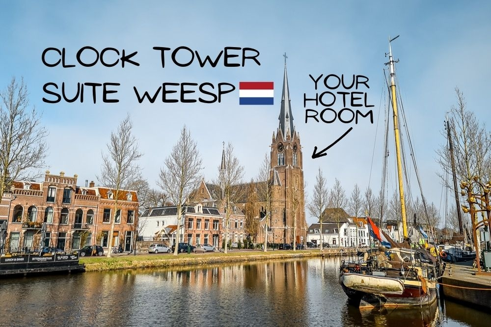 The Clock Tower Weesp | Unique Place To Stay in The Netherlands