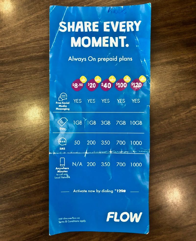 flow antigua sim card