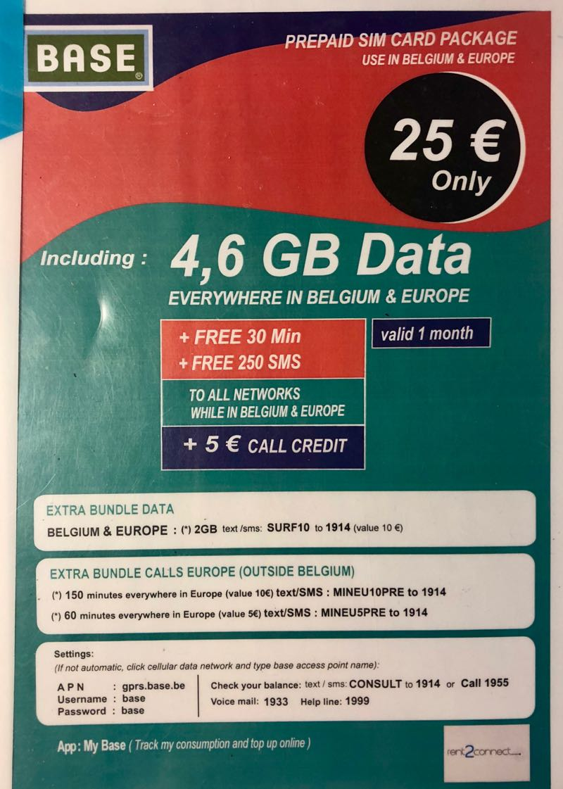 base sim card belgium brussels airport 5 - Prepaid Sim Card Europe Data