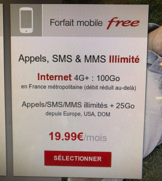 free mobile sim card france