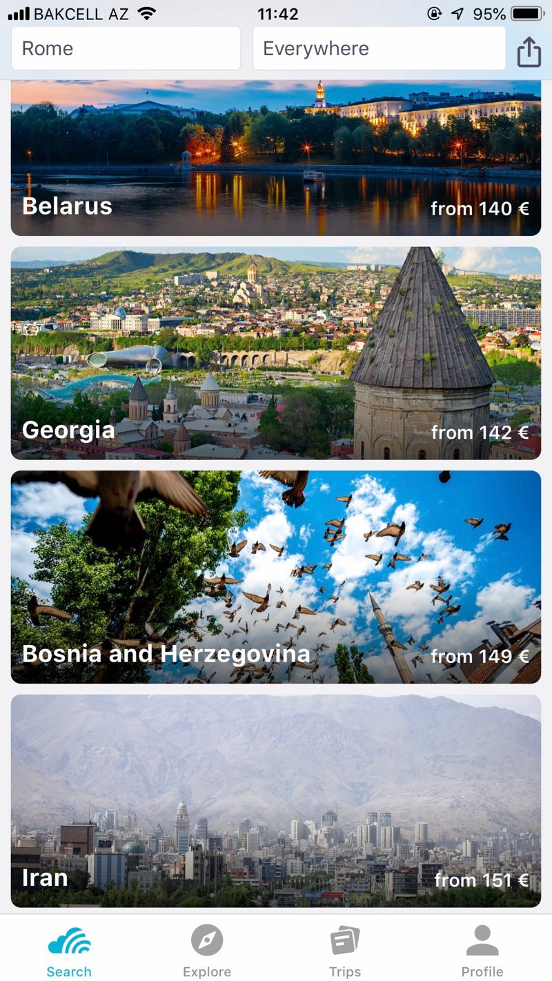 cheap flights to tbilisi