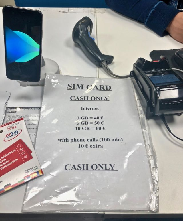 Best Prepaid German Sim Card at Frankfurt Airport