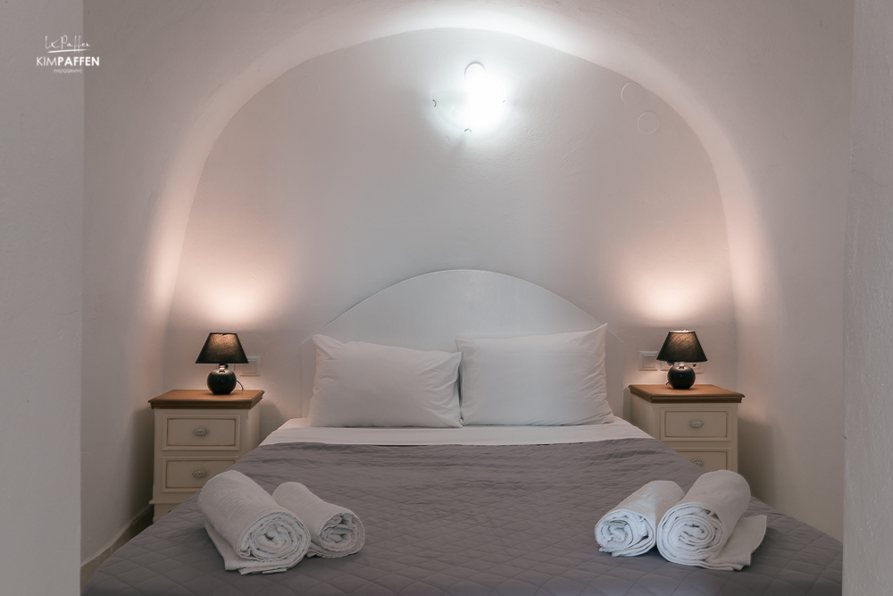 cave bed white side suites oia