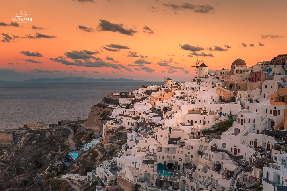 sunrise from oia castle