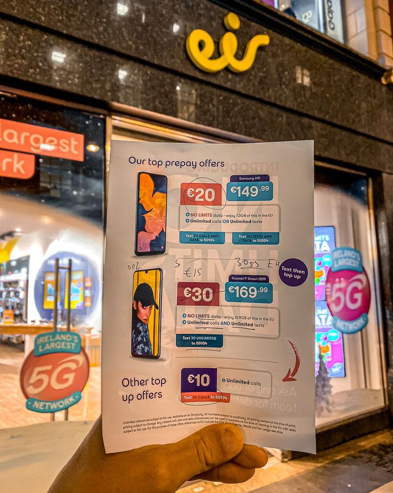 Best Prepaid Ireland Sim Card For Tourists In 2020 Traveltomtom Net Traveltomtom Net