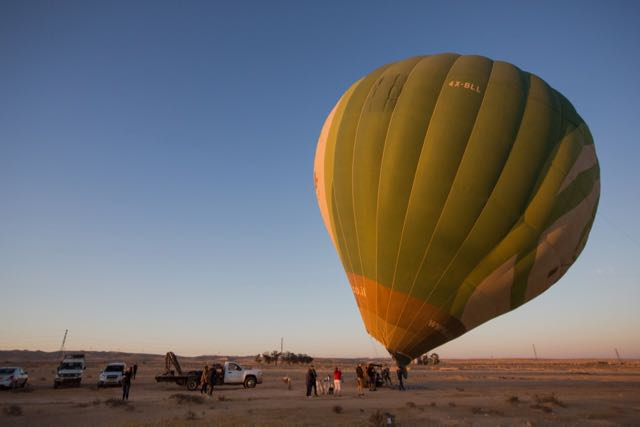 things to do in israel hot air balloon