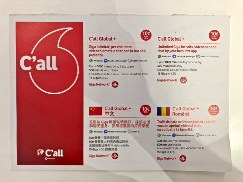 Best Prepaid Italy Sim Card for Tourists in 2019