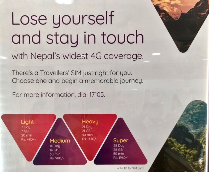 nepal sim card tourists