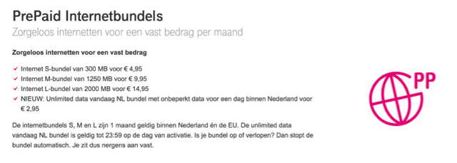 prepaid t mobile netherlands