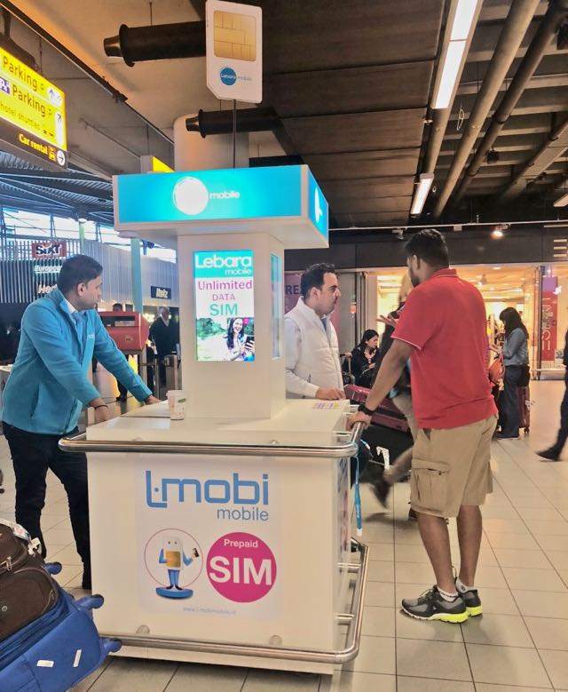 Buying a Dutch SIM card at Amsterdam Airport in 2018