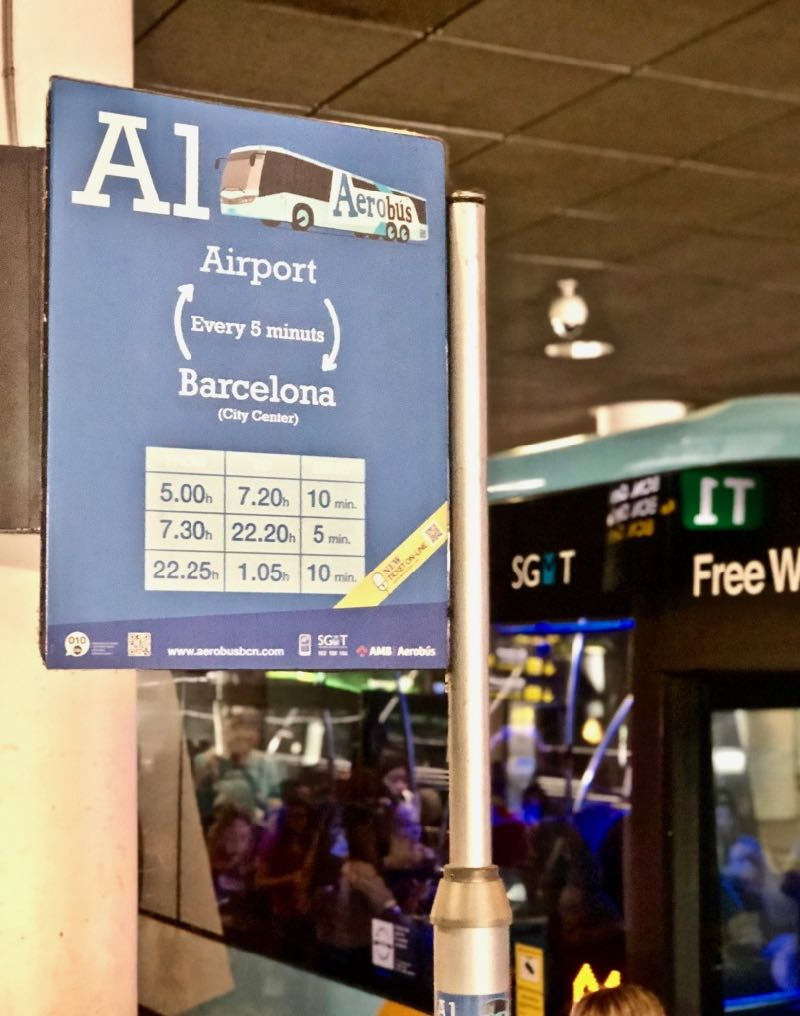 a1 bus to barcelona from airport