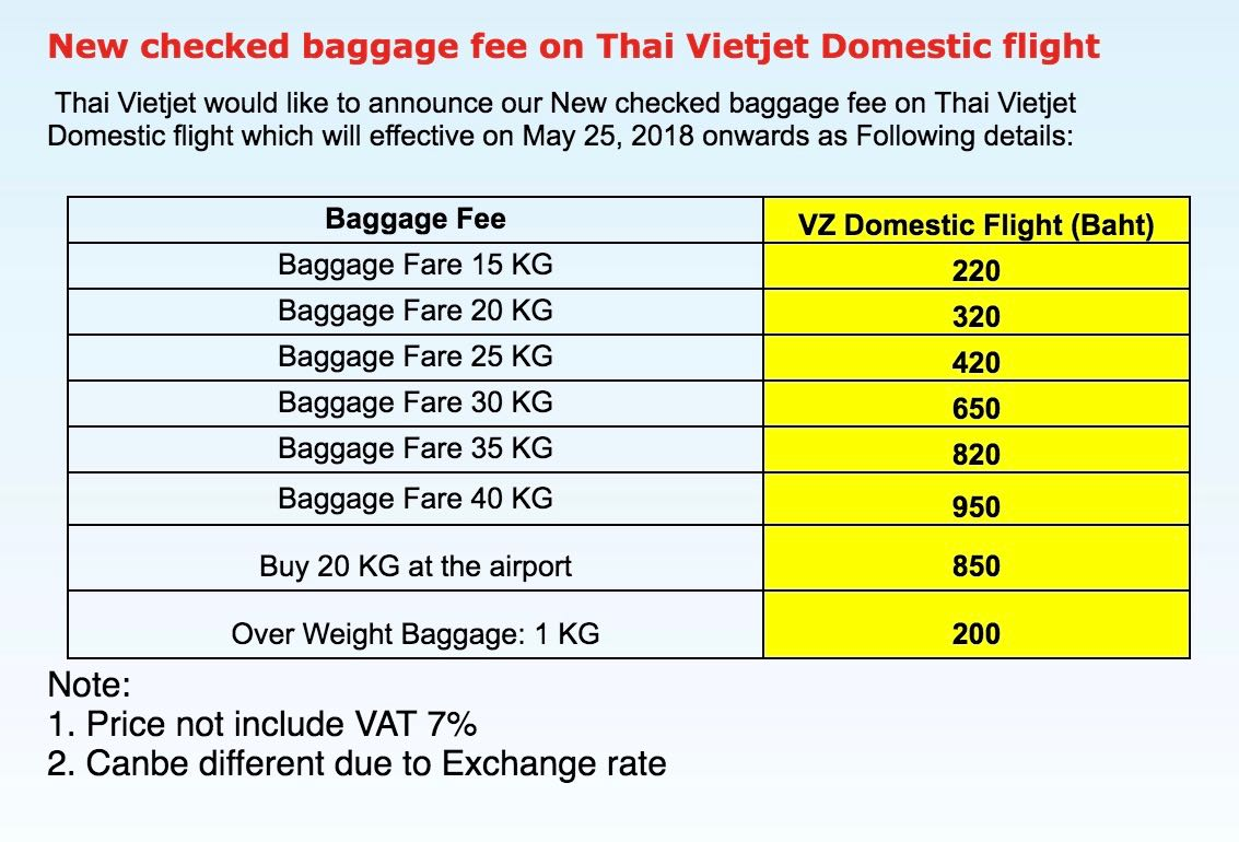 Thai lion air baggage
