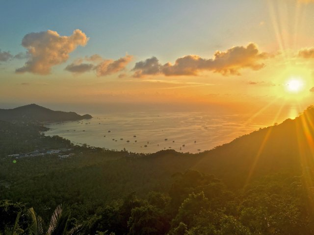 sunset mango viewpoint koh tao