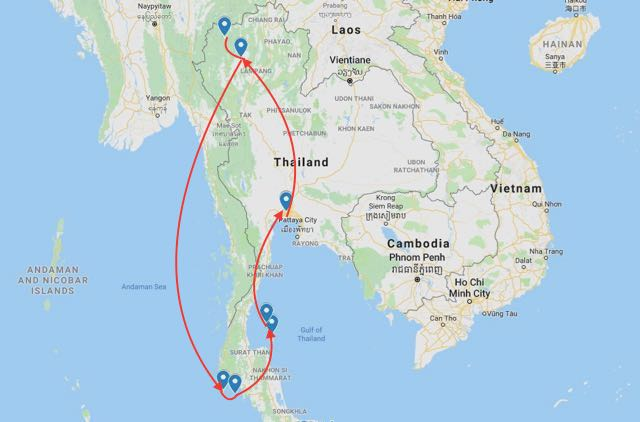 thailand itinerary 14 days islands and culture