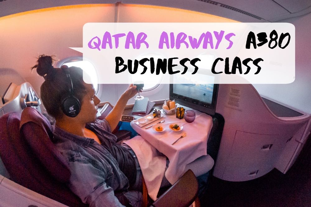 Flying Qatar Airways Business Class A380 from Frankfurt to Doha
