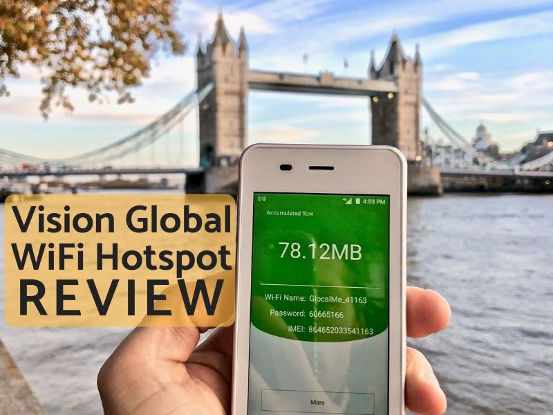 Vision Global Wifi Review | 4G WiFi Hotspot For Travel