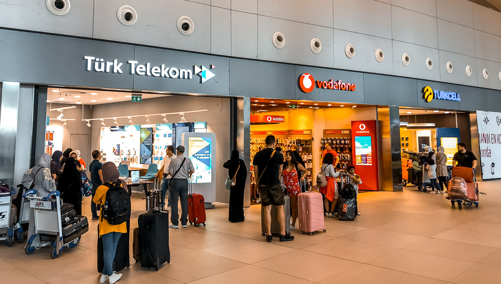 buying a sim card at istanbul airport