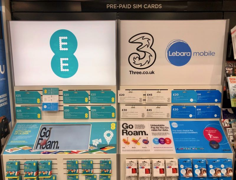 prepaid sim cards london gatwick airport