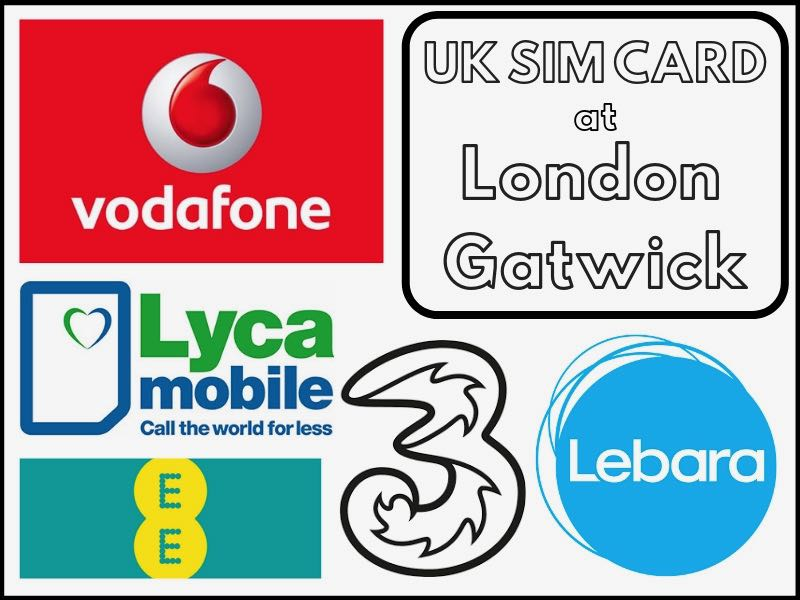 Buying a UK sim card at London Gatwick Airport (LGW) in 2019