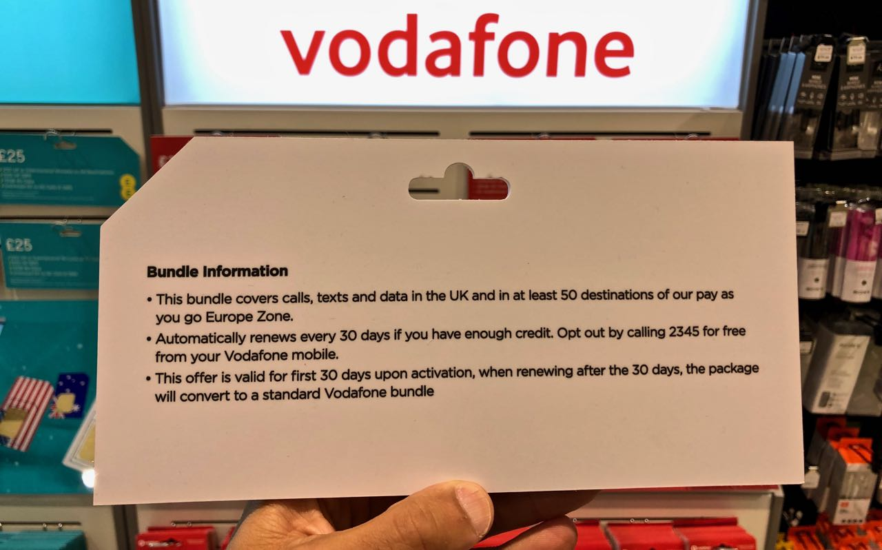 vodafone prepaid sim card london heathrow 2