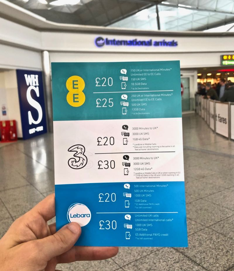 sim card stansted airport london
