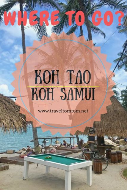Koh Tao or Koh Samui for holiday (the difference